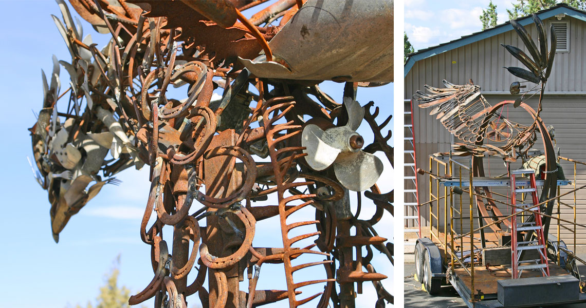 Air Traffic Control - Steel Sculpture