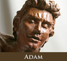 Adam - bronze sculpture