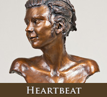 Heartbeat - bronze sculpture