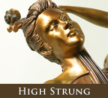 High Strung - bronze sculpture