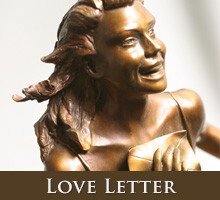 Love Letter - bronze sculpture