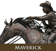Maverick - bronze sculpture