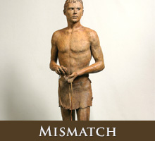 Mismatch - bronze sculpture