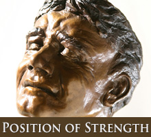 Position of Strength - bronze sculpture