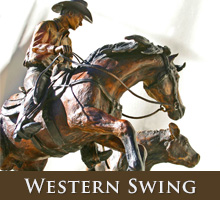 Western Swing - bronze sculpture