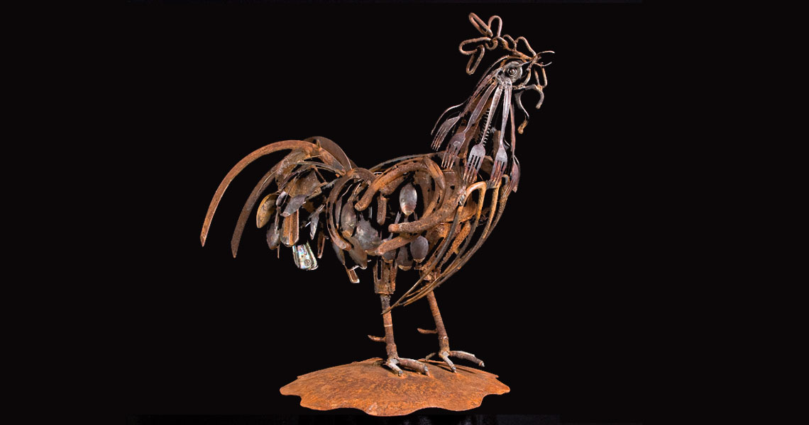 Whats For Breakfast - Steel Sculpture