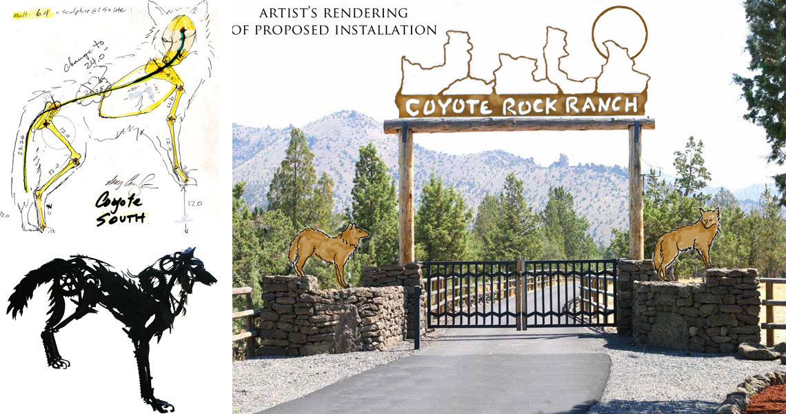 Coyote Rock Ranch - Steel Sculpture