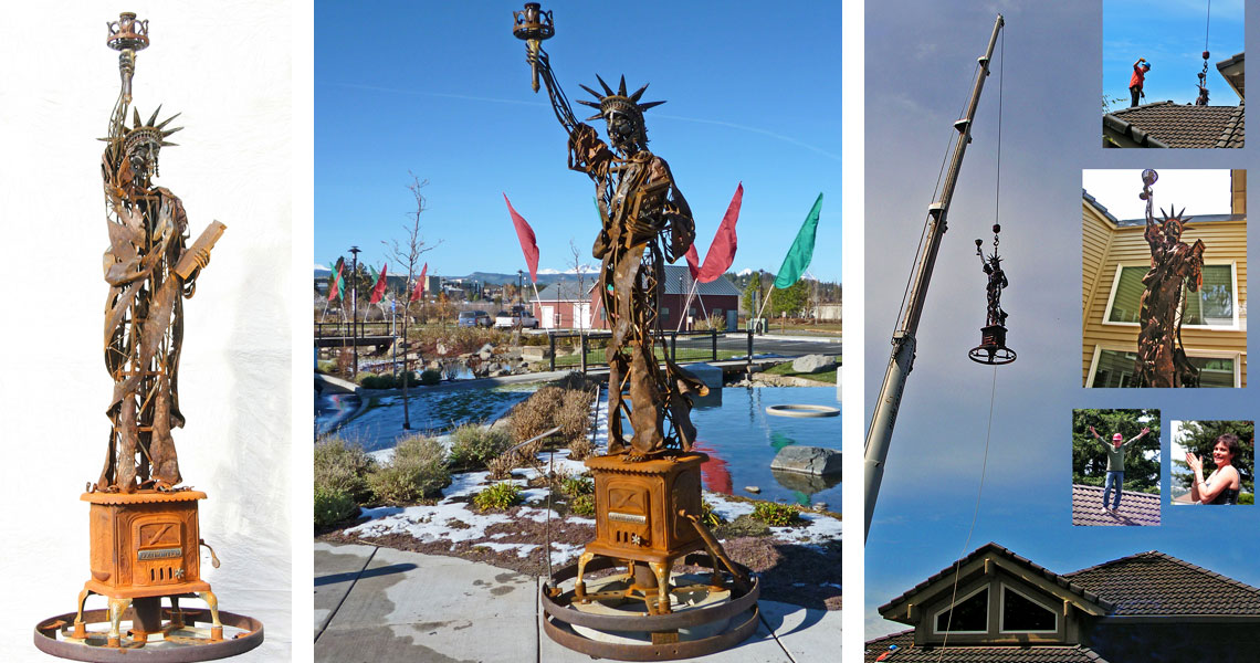 Liberty Belle - Steel Sculpture